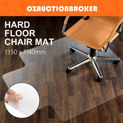 Chair Floor & Carpet Mat Protector Plastic PVC Office Work 1350 x 1140mm Vinyl
