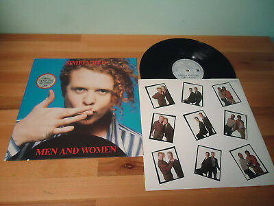 Lp Simply Red - Men And Woman 1987 + Ois