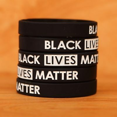 Set of BLACK Lives Matter Wristband Bracelets - New Silicone Wrist Bands Lot