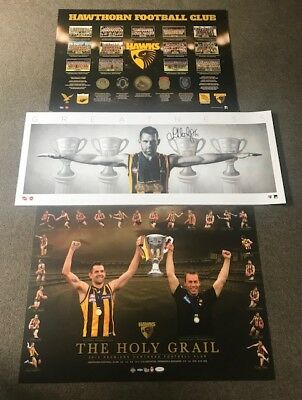 Hawthorn Deal!! History Print, Hodge Mini Wings & Holy Grail Prints