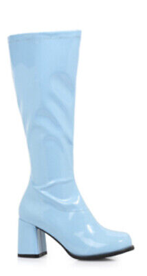 Baby Light Blue GoGo Dancer 60s 70s Hippie Disco Costume Knee Hi Boots All Sizes