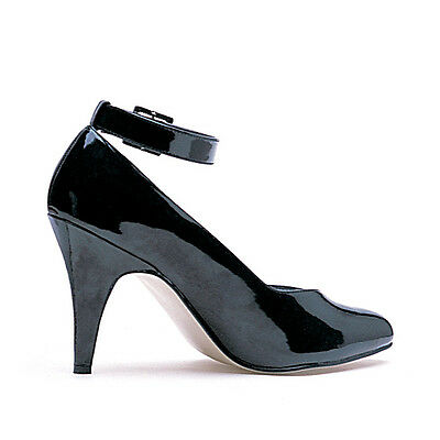 Black Wide Width Heels Mens Trans Drag Queen Womans Large Shoes size 14 15 16 W