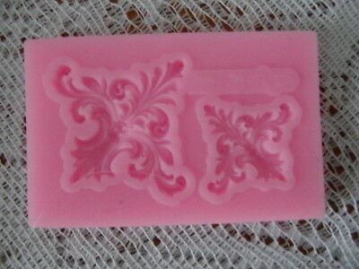 Cake Lace Border 2 Cavities Silicone Mold Diy Candles Decoration Tool