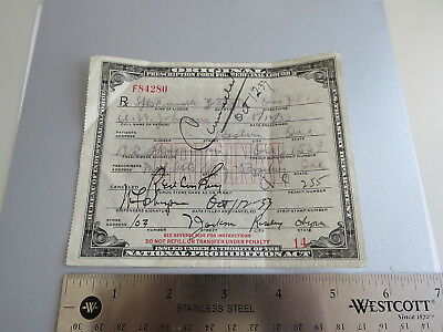 PROHIBITION  medicinal liquor prescription Oct 12 1933 Roseburg Oregon