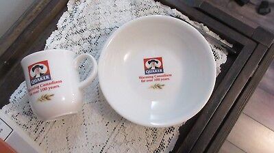 QUAKER OATS  Cup & Bowl Warming Canadians For Over 100 Years Royal Doulton
