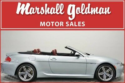 2010 BMW M6  2010 BMW M6 cabriolet  Silverstone Metallic w/Indianapolis Red only 30,076 miles
