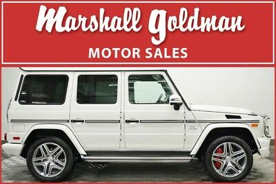 2017 Mercedes-Benz G-Class  2017 Mercedes-Benz G63 AMG in designo Mystic White  only 8,064 miles