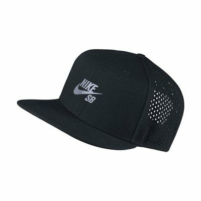 Men Nike SB Performance Trucker SnapBack Adjustable Hat Black [Z]708434-010