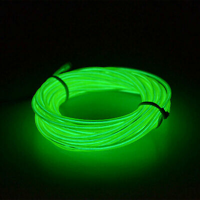 5M Pink LED Flexible EL Wire Neon Glow String Strip Rope Light for Dance Party