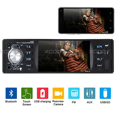 """4.1"""" Car Stereo Radio MP5 MP3 Player 1DIN Touch Screen SD 4-Channel Bluetooth"""