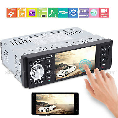 "1 DIN 4.1"" Car Stereo Radio MP5 MP3 Touch Screen Player Bluetooth AUX Remote"