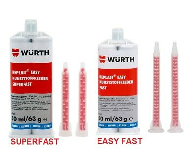 Würth  KUNSTSTOFFKLEBER  REPLAST - EASY  SUPERFAST - EASY FAST-   2K   50 ml
