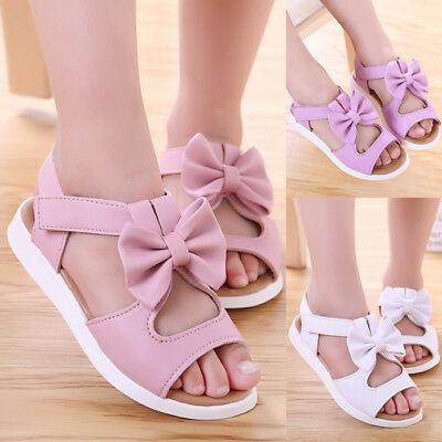 Summer Kids Toddler Baby Girl Soft Sandals Leather Casual Party Princess Shoes