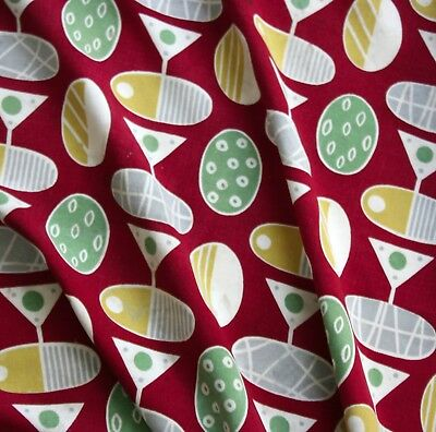 Vintage 1950s ABSTRACT / GEOMETRIC Interiors fabric...
