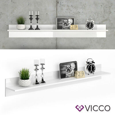 vicco wandregal byanko wandboard wei hochglanz. Black Bedroom Furniture Sets. Home Design Ideas