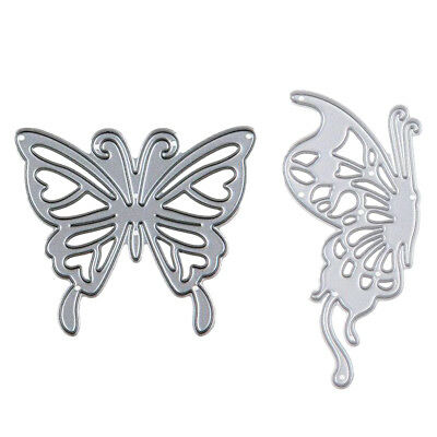 Hot 2Pcs Metal Butterfly Cutting Dies Stencil Scrapbooking Paper Card Mold