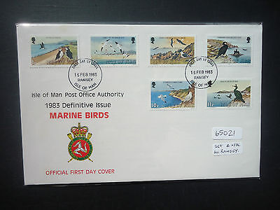 Isle Of Man 1983-85 Birds + Queen 17v Set 4x First Day Covers (Ramsey Postmarks)