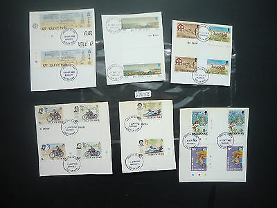 Isle Of Man 1973-1984 Gutter Pairs (70+) (On Piece From First Day Covers) Used