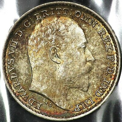 1908 Silver One 1 Penny Great Britain