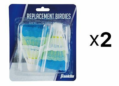 Franklin Sports 6 Plastic Shuttlecocks Six-Pack Assorted Colors 52619 (2-Pack)