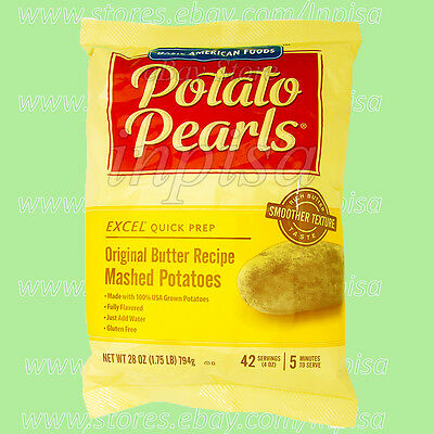 EXCEL POTATO PEARLS 6 Bags x 28oz Original Butter Recipe Mashed Potatoes