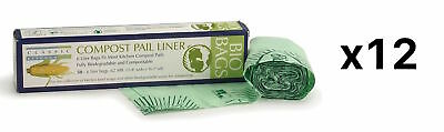 RSVP 100% Biodegradable Compostable Liners/Bags 50 Count Pack 6 Liters (12-Pack)