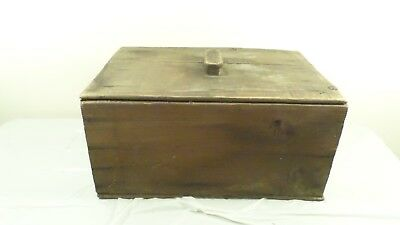 Vintage Hume Pink Alaska Salmon Wood Crate with Lid