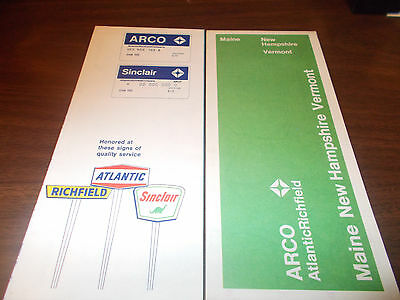 1970 ARCO Maine/New Hampshire/Vermont Vintage Road Map