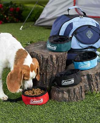 Coleman Travel Pet Bowl~ Collapsible ~ Camping / Travel You Choose Color ~ New