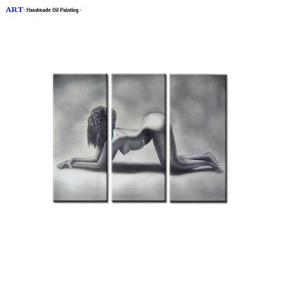 Large Modern Abstract Oil Painting Canvas Contemporary Wall Art Sexy Girl Decor