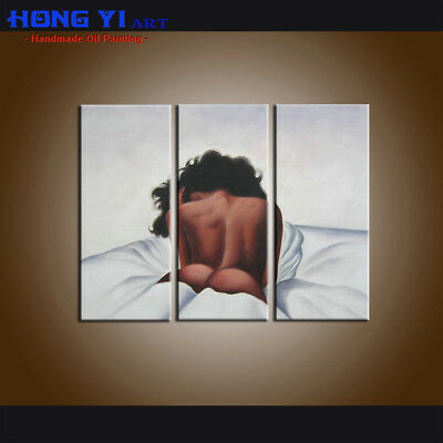 Large Wall Art Modern Sexy Girl Abstract Oil Painting Canvas Contemporary Decor