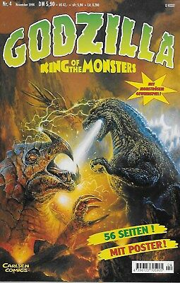 Godzilla King of the Monsters Nr.4 / 1998 Mit Poster!