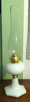 Mosser Milk Glass NEW STYLE Large Oil Lamp
