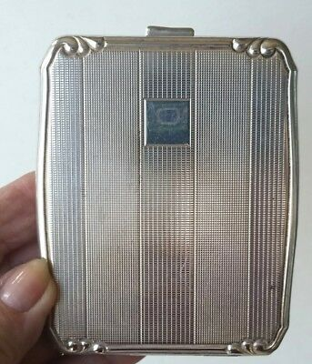Beautiful -Antique, Appaca Silver Cigarette Case. Art Noveau Style Marked With S