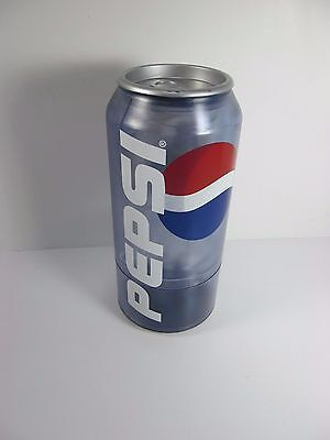"Vintage 12"" Tall Pepsi Cola Can Coin Counter Battery Operated WORKS RARE"