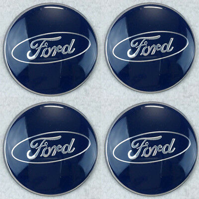 4PCS 56MM Wheel Center Hub Caps Emblem Decal Stickers for FORD White/Black 1070