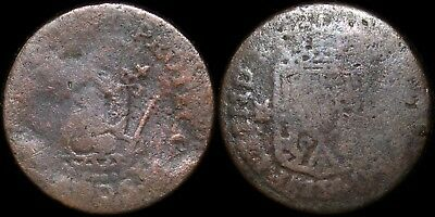 1806 M F Philippines Quarto ~ KM#6 ~ Spanish Colonial Copper