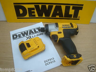 Dewalt Xr Dcf815 10.8V  Impact Driver Bare Unit + Dcb127 2 Ah Battery