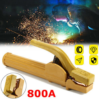 800A Electrode Holder Stick Welding Copper Rod Stinger Clamp Heat Resistant Tool