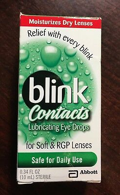 Blink Contacts Lubricating Eye Drops for Soft & RGP Lenses 10ml exp. 2/19-7/19