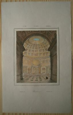 1835 print PANTHEON IN ROME, ITALY (#12)
