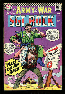 Our Army At War 169 5.5 Fine- 1966 Dc Joe Kubert Sgt Rock Easy Company