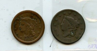 1831 & 1853 Large Cent's From Collection!!!..starts @ 2.99