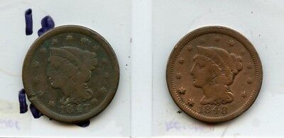 1847 & 1848 Large Cent's From Collection!!!..starts @ 2.99