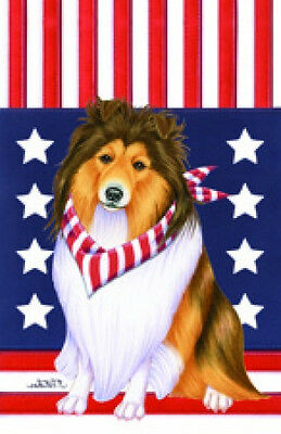 Garden Indoor/Outdoor Patriot (TP) Flag - Shetland Sheepdog Sheltie 750141