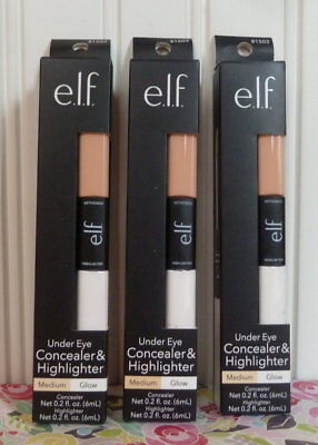 3 Elf Studio Under Eye Concealer & Highlighter - E.l.f. #81503 Medium/glow