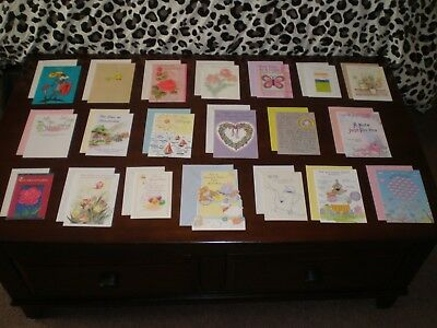 LOT OF 20 NICE QUALITY CARDS MIXED THEME GREETING CARDS NEW with Envelopes #9