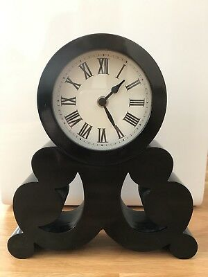 Homebase Black Rococo Clock Classic Timepiece RRP £15 Battery Operated