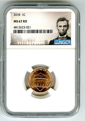 2018 P Us Mint Cent Union Shield Ngc Ms67 Rd Lincoln Label Super High Grade