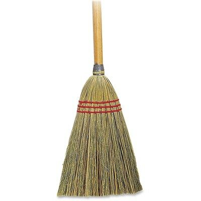 "Genuine Joe Lobby Toy Broom - 34"" Length Handle - 1 Each - Corn Fiber, Wood"